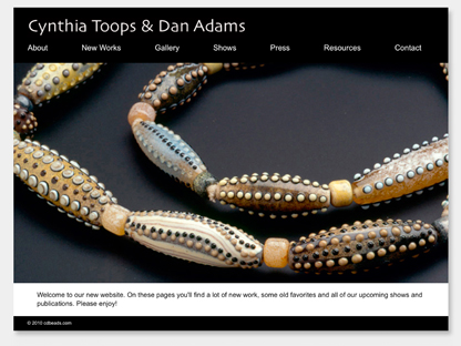 Cynthia Toops and Dan Adams Home page